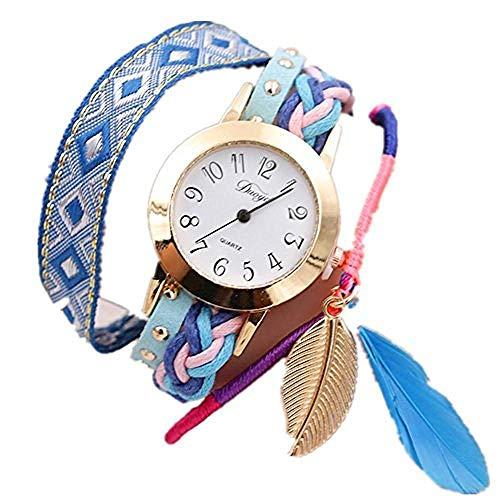fossil Herren Uhr,Eine Literarische Jugend Handgewebte Geflochtene Leinwand Schmuck Damenuhr Armbanduhr @ 1 -