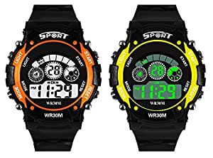 Swadesi Stuff Digital Multi Color Dial Kids Watch for Boys and Girls -Combo of 2 Watches