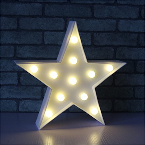 Sterne Nachtlicht Kinder, Nachttisch SüßE Nachttischlampe Children Night Light Deko Kinder MäDchen Babytisch Spielzeug Schlafzimmer Led-Nachtlicht für Babys Cartoon Orientierungslicht Einschlafhilfe (Weiß)