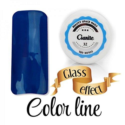 Color Line – Couleur couvrante et effet verre – Gel UV coloré 5 ml, reconstruction de faux ongles bleu cobalt