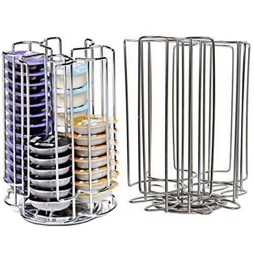 Spares2go 52 rotación de T-Disc soporte para cápsulas de cafetera de cápsulas de Pods (52 soporte para dispensador de torre)