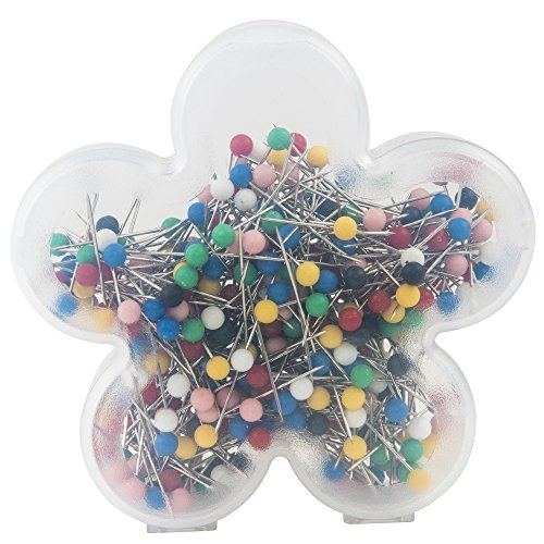 Singer Notions Ball Head Quilting Pins In Flower Case-Size 17 360/Pkg