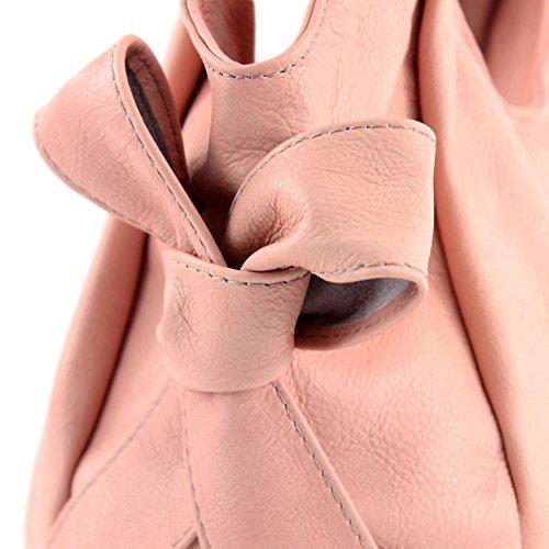 modamoda de �?borsa in pelle da donna borsa a mano borsa a tracolla borsa donna pelle nappa IT28 Rosa