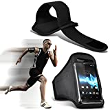 ( Black 142 x 72) Kazam Trooper 451 case High Quality Fitted Sports Armbands Running Bike Cycling Gym Jogging Ridding Arm Band case cover by i-Tronixs