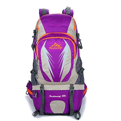 Outdoor Neue Bergsteigen Tasche Groß Kapazität Im Freien Rucksack Lässige Kleidung Camping Tasche Purple
