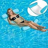 HomeYoo Letto Galleggiante, Nuoto Piscina Galleggiante Acqua Amaca, Tenda a Letto Galleggiante, Estate di Nuoto Gonfiabile Galleggiante Sedia a Sdraio per Adulti e Bambini (Blu)