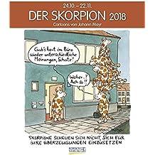 Skorpion 2018: Sternzeichen-Cartoonkalender