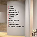 SELF RESPECT Gym Wall Decal Motivational Quote-Health and Fitness Spinning Kettlebell Crossfit Workout Boxing UFC MMA by DesignDivil