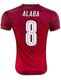 Generic 20162017Autriche 8DAVID Alaba (Home Jersey de Football en rouge