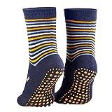 Piarini 2 Paar Kinder Stoppersocken ABS Socken | Anti Rutschsocken mit Noppen aus Baumwolle | Jungen Mädchen Blau Gr. 23-26