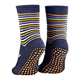 Piarini 2 Paar Kinder Stoppersocken ABS Socken Anti Rutschsocken Noppen Baumwolle Jungen Mädchen Blau Gr. 23 24 25 26