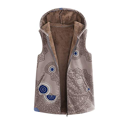 Anglewolf Plus Size Women Hooded Long Sleeve Cotton Linen Fluffy Fur Zipper  Coat Outwear Fashion Parka 0f420eccdd0b6