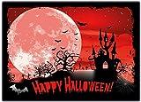 Halloween Einladungskarten Kindergeburtstag Kinder Jungen Mädchen - 12 Stück grusel Halloween-Party HalloweenParty Kürbis Laterne Erwachsene