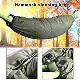 Loose Design Ultra Lightweight Sleeping Bag for Backpacking,Insulation Hammock Cocoon, Fully Encases The
