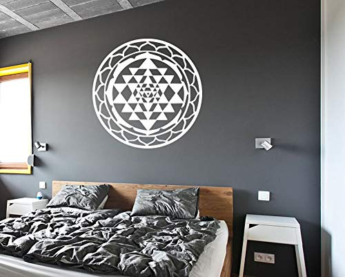 Sri Yantra Wall Decal Sri Yantra Sticker Chakra Sticker Meditation Decal Meditate Protection Symbol Sacred Geometry Symbols Wall Decal Mural for Home Bedroom Decoration Wall Decal Room Art Gift - Chakra-formel