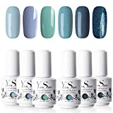 Vernis à Ongles Gel - Y&S UV LED Vernis Gel Semi Permanent Soak Off Manucure Nail Art Cadeau Kit, 6 Couleurs X 8ml Chaque Flacon, Lot L'Océane …
