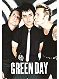 Heart Rock Drapeau Original Green Day Band Poster, Tissu, Multicolore, 110 x 75 x 0,1 cm