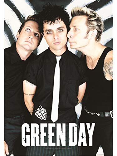 Heart Rock Bandera Original Green Day Band Póster, Tela,, 110x 75x 0.1cm