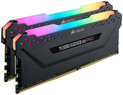 Corsair Vengeance RGB Pro - Kit de Memoria Entusiasta 32 GB (2 x 16 GB), DDR4, 3200 MHz, C16, XMP 2.0, Iluminación LED RGB, Negro
