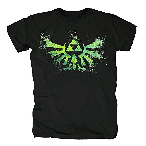 TSP The Legend of Zelda - Green Zelda Logo T-Shirt Herren S Schwarz
