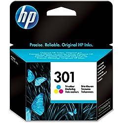 HP 301 - Cartucho de tinta Original HP 301 Tricolor para HP DeskJet, HP OfficeJet y HP ENVY