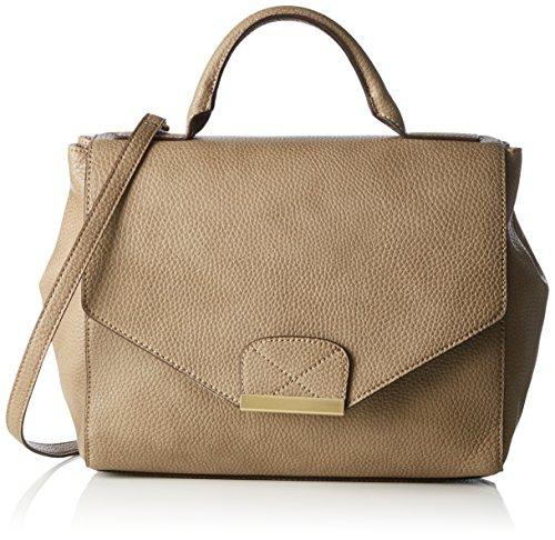 ESPRIT mit praktischem Innenleben Damen Bowlingtaschen 12x24x29 cm (B x H x T), Beige (250 KHAKI BEIGE)