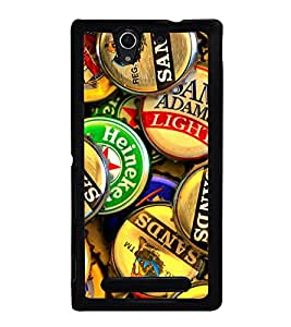 Bottle Caps 2D Hard Polycarbonate Designer Back Case Cover for Sony Xperia C3 Dual :: Sony Xperia C3 Dual D2502