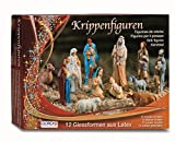 GLOREX 6 9603 90 Latex Krippenfiguren Set, mehrfarbig, 31 x 22 x 6,5 cm