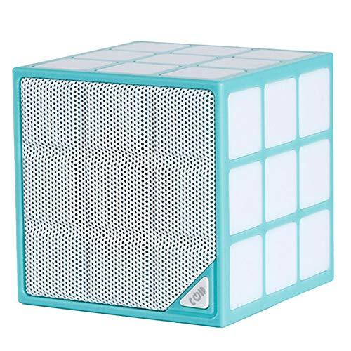 Senza fili bluetooth altoparlante portatile mini cubo di rubik creativo con luci a led colorati possono essere inseriti in tf card di sostegno voce di chiamata audio piccolo,blue