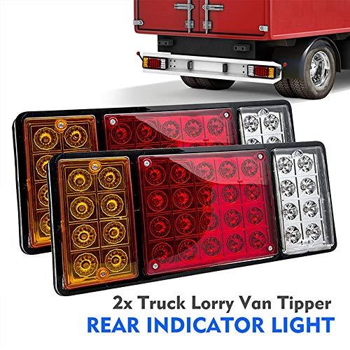 Szl Ladiami 2 Stücke 36 24 V Hinten Bremse Rücklicht Lampe Led Stop Stop Blinker Für Anhänger - Stop-lampe Linse