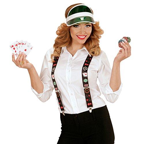 Amakando Casino Hosenhalter Poker Spieler Hosenträger Las Vegas Braces Herren Blackjack Suspenders Karten Spielkarten Kostüm Y-Form Zocker Hosen Träger