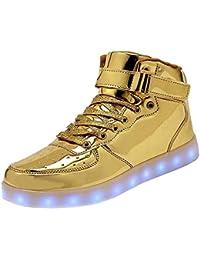 High Top LED Schuhe USB Turnschuhe für Männer Frauen mit Fernbedienung e848ff0db7