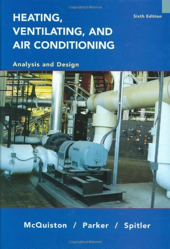 Heating. Ventilating and Air Conditioning Analysis and Design