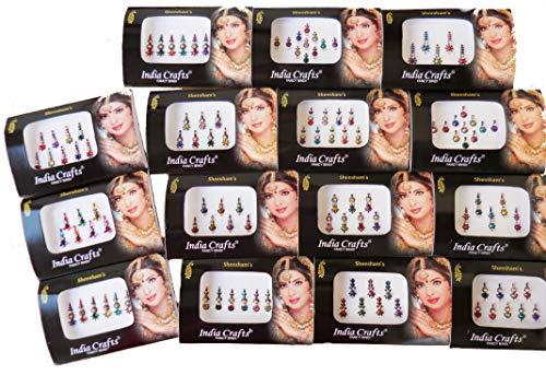 6 Different Bindi Packs Mix n Match Face Jewels ()