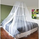 Baldachin Weiß Moskitonetz von JEMIDI 60cm x 250cm Betthimmel Himmelbett Moskito Netz Kinderzimmer mit Aufhängring undAufhänghaken Weiß