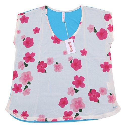 8034P maglia bi-tessuto SUN68 maglia donna t-shirt women [M]