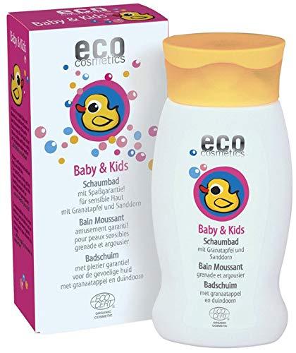 eco cosmetics Bio Baby & Kids Schaumbad mit Granatapfel und Sanddorn (2 x 200 ml)