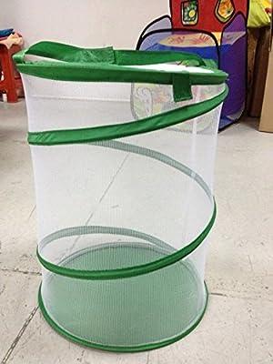Pop Up Garden Bag wiederverwendbar Garten und Rasen und Leaf Bags faltbar tragbar Yard Waste Bag Insekten Carrier Netz lässt sich verstauen Live Schmetterling von Generic bei Du und dein Garten