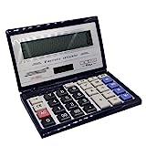 La Haute Großer Tischrechner Solar- oder Batteriebetrieb Flip Taschenrechner mit 14-digit Display für Home Office Business School Math Prüfungen color 3