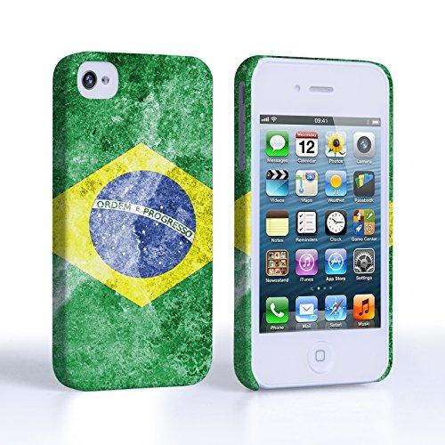 Caseflex Coque iPhone 4 / 4S Rétro Brésil Drapeau Dur Housse
