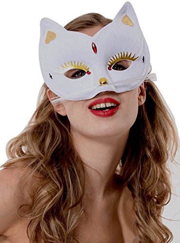 GENMASKE MASKERADE SUPER HERO FANCY DRESS CAT FACE MASK ()
