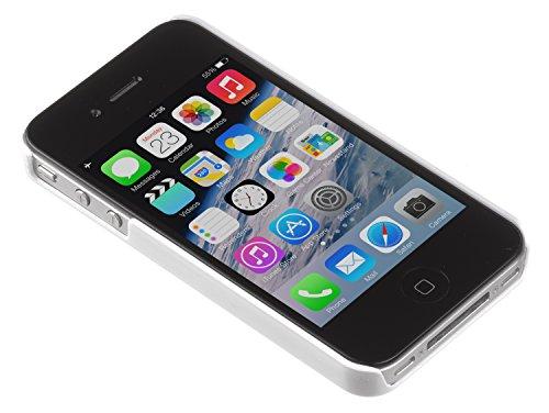 Trendz Hard Shell Schutzhülle Clip-On Case Cover für iPhone 4/4S - London Silhouettes Weiß mit Eulen