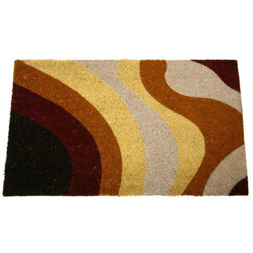 rubber-cal-traces-marron-moderne-tapis-de-porte-18-par-76-cm