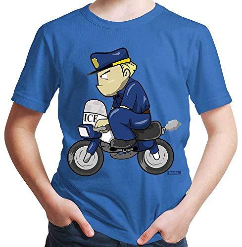 HARIZ Jungen T-Shirt Polizist Lustig Motorrad Polizei Cops Plus Geschenkkarte Royal Blau 92/1-2 Jahre