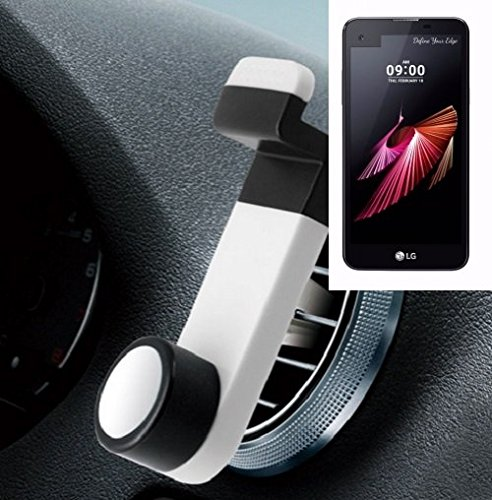 Smartphone Halterung Autohalterung Lüftungshalterung für LG Electronics X screen, Weiß | Handy Halter Lüftungsgitter Smartphonehalterung Handyhalterung Air Vent mount - K-S-Trade(TM)