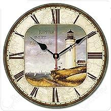 LQUIDE Reloj de Pared de 12 Pulgadas/Aspecto Antiguo Reloj Decorativo Reloj Retro Estilo Moderno