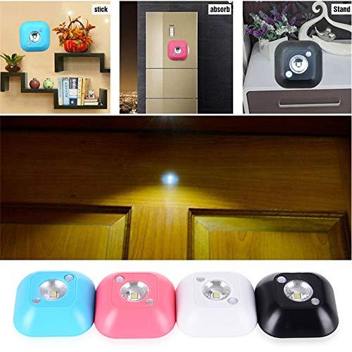 PDDXBB Nachtlichtlampe Mit Mini-Wireless-Led-Lichtsensor, Pir-Infrarot-Bewegungslichtsensor, Aktiviertem Licht Für Wandleuchte