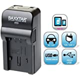 Baxxtar RAZER 600 chargeur 5 en 1 pour GoPro AHDBT-301 AHDBT-302 - NOUVEAU avec entrée micro USB. Sortie USB pour charger simultanément un troisième dispositif (GoPro, GoPro à distance, iPhone, tablette, smartphone, etc ..) - ajustements - GoPro Hero 3 Hero3 Hero3+ Black White & Silver Edition
