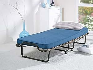 lit pliant lit d 39 appoint pliant de camping 200 x 80 x 39 matelas avec sommier en veraflex lattes. Black Bedroom Furniture Sets. Home Design Ideas