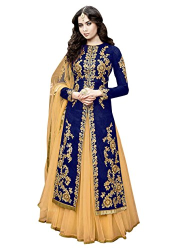Mahalaxmi Fashion Women's Dress Material (MFD-21_Free Size_Blue)
